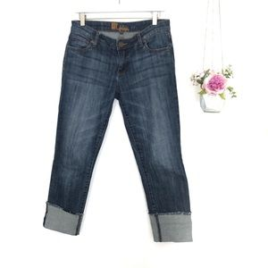 Kut From The Kloth Boyfriend Cropped Jeans Cuffed
